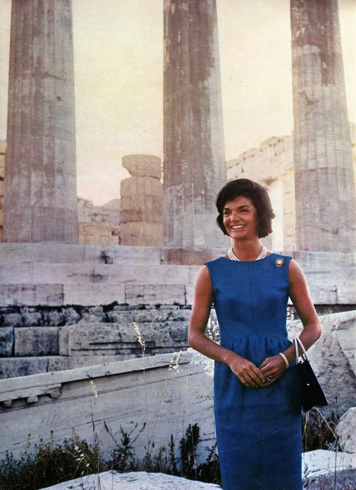 Jacqueline Kennedy is undoubtedly one of the most enduring style icons, and Norman Norell was one of her go-to designers. When she got ready for a state visit to the Parthenon in Athens, Greece, in 1961, the First Lady turned to him, as she often