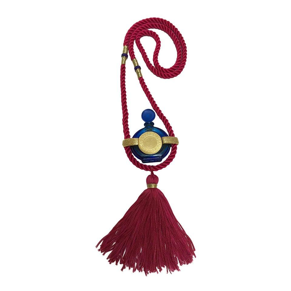 Vintage Rochas Tassel Perfume Pendant Necklace 1