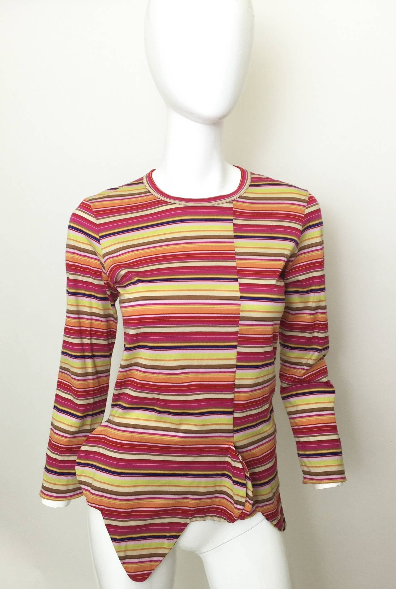 Comme des Garcons multi stripe Shirt 1990's For Sale 1