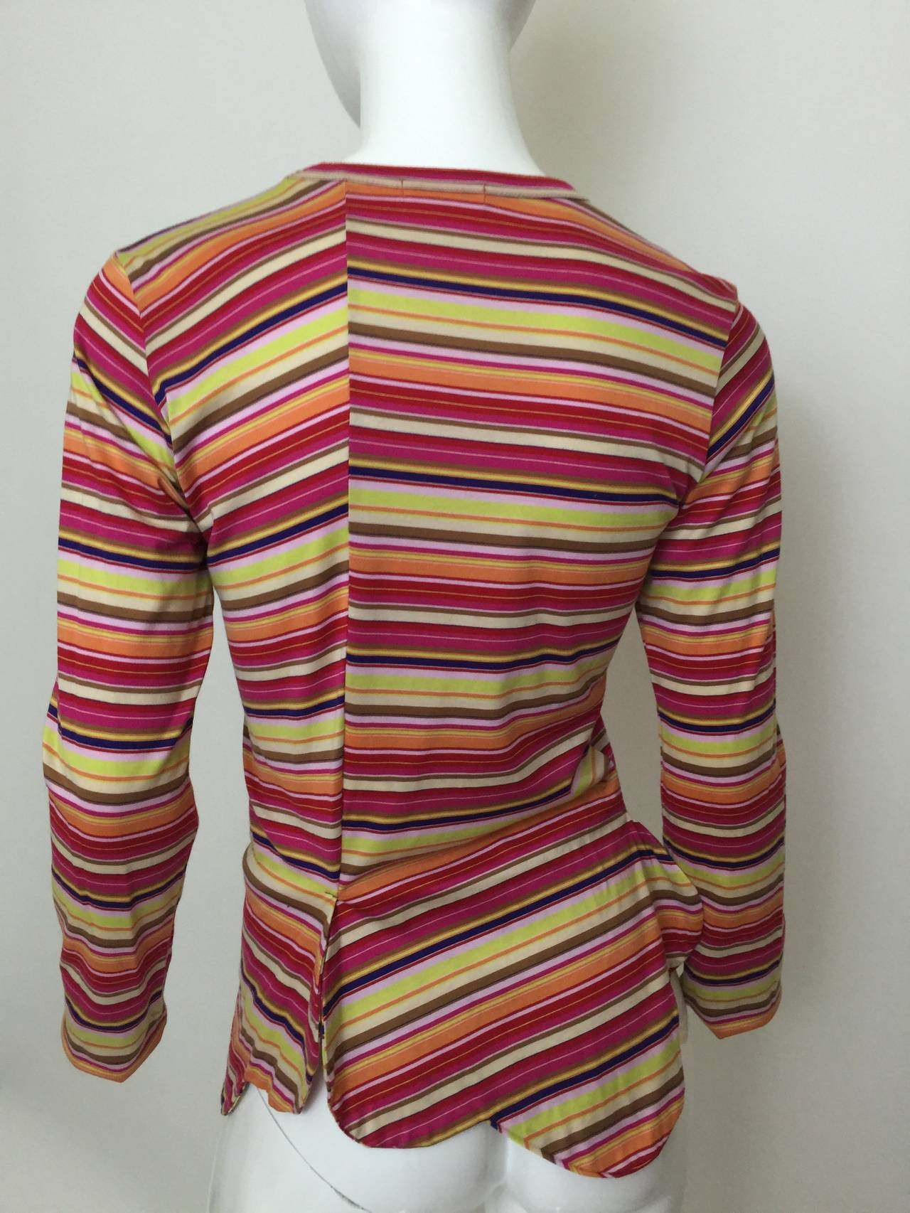 Comme des Garcons multi stripe Shirt 1990's For Sale 2