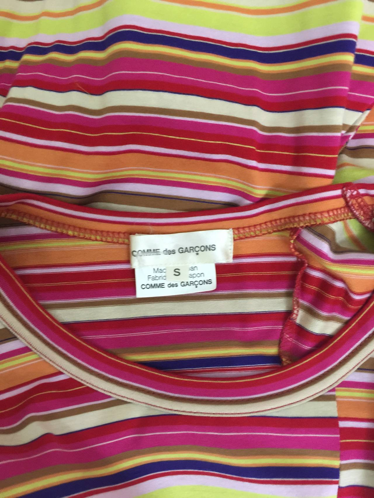 Comme des Garcons multi stripe Shirt 1990's For Sale 3