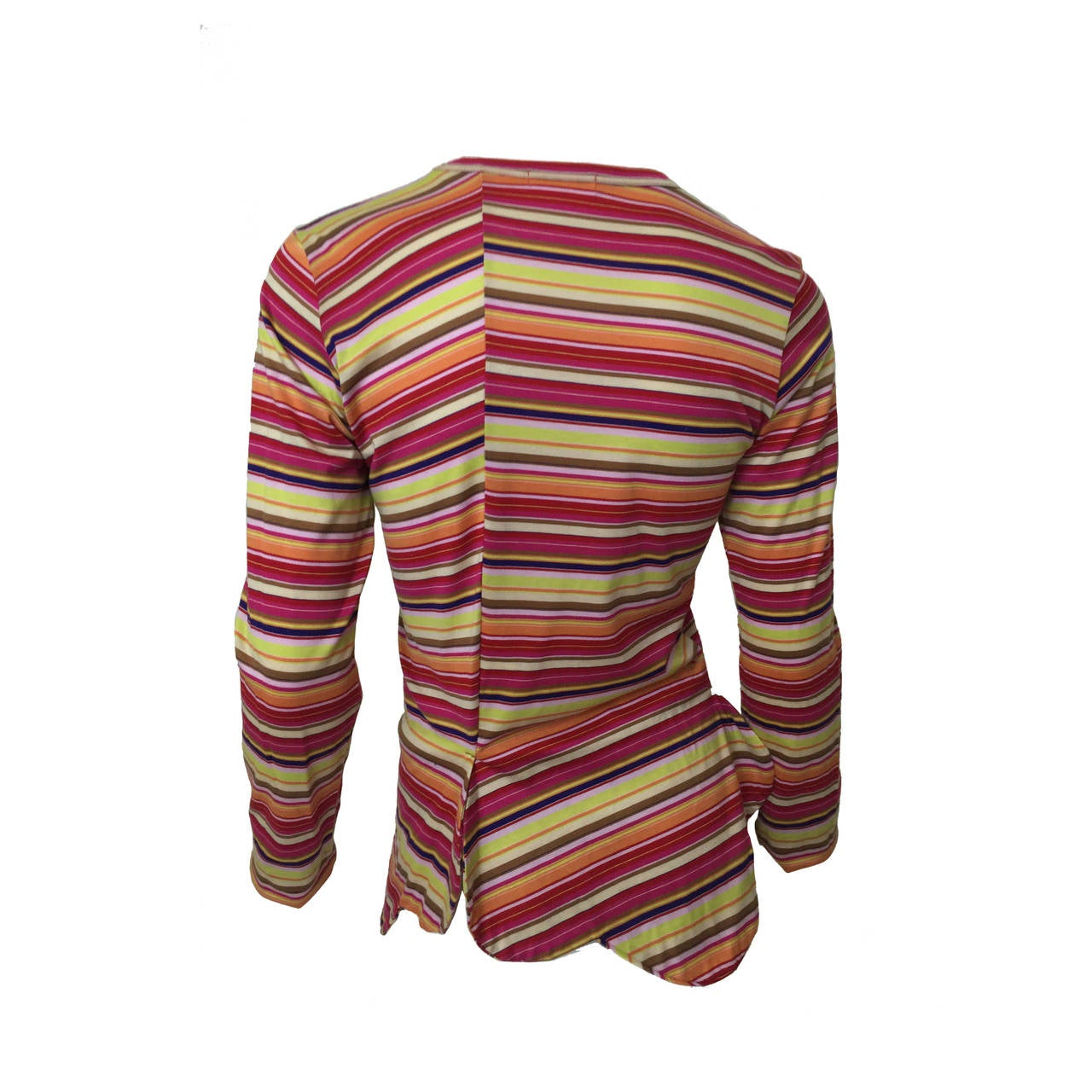 Comme des Garcons multi stripe Shirt 1990's For Sale