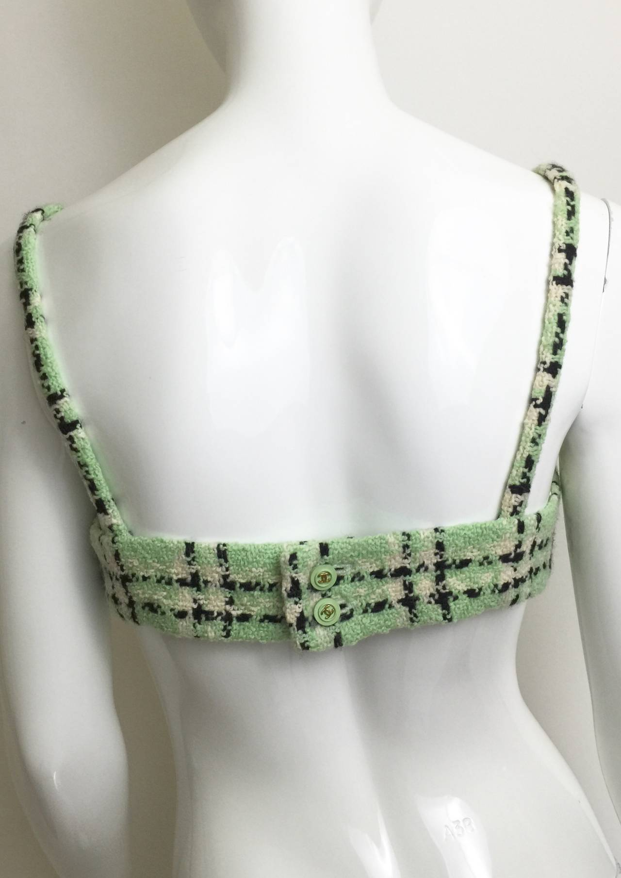 Vintage Chanel 1994 Runway Boucle Bra Top Rare with Tags 6