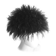 Magnificent Chanel  Black Feather Vintage Collectors Hat with Tags 1990s