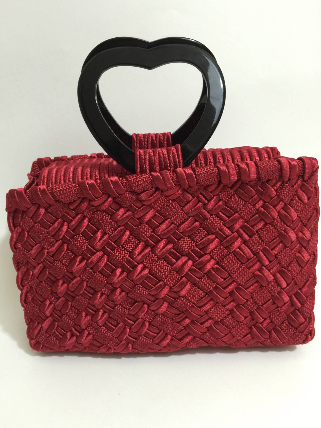"Vintage Yves Saint Laurent  ""in Love again""  Heart handle Bag YSL 8"