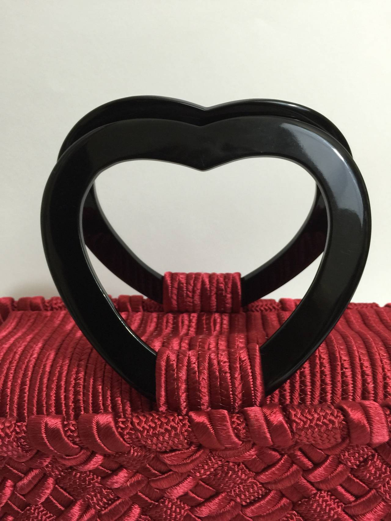 "Vintage Yves Saint Laurent  ""in Love again""  Heart handle Bag YSL 9"
