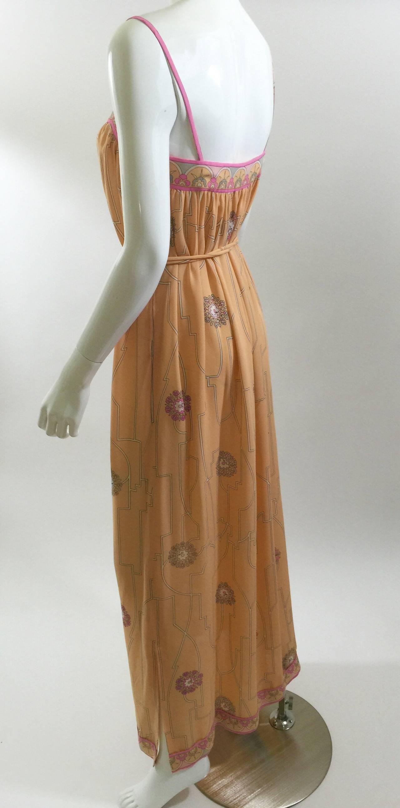 Ethereal 1960'S Emilio Pucci Vintage Silk Dress & Jacket Set Vintage w/ Tags For Sale 2
