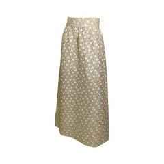 Vintage Bergdorf Goodman1970s  A-Line Maxi Skirt
