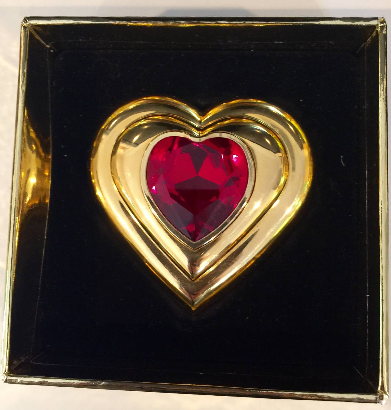 Yves Saint Laurent Paris Dazzling Ruby Crystal Jewel Heart