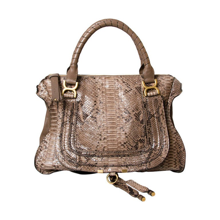 chlo python marcie large satchel at 1stdibs. Black Bedroom Furniture Sets. Home Design Ideas