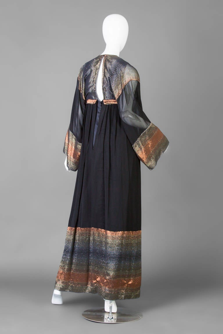 Jean Varon Documented Maxi Dress 1971 At 1stdibs
