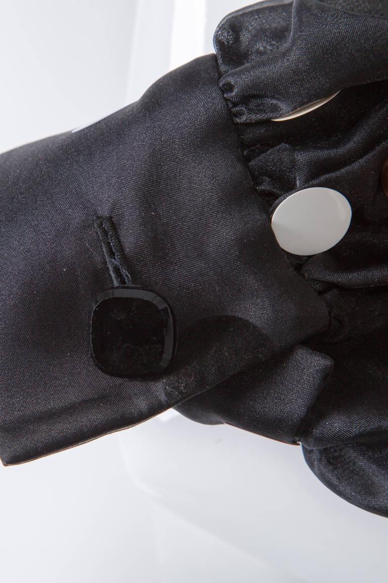Vintage Givenchy  Boutique Black Organza Colorful Paillettes Polka Dots Blouse T 7