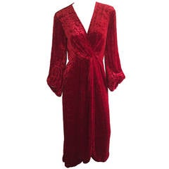 Saint Laurent Hostess Gown  Museum Piece YSL 1970s