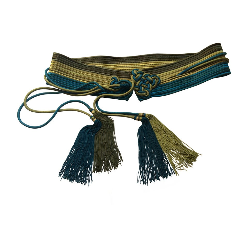 Vintage Yves Saint Laurent Russian Tassel Belt YSL 1