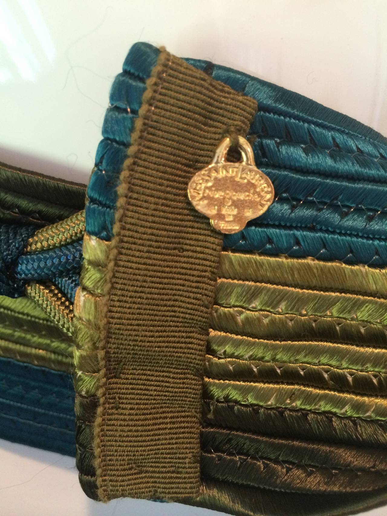 Vintage Yves Saint Laurent Russian Collection Passementerie Tassel Belt YSL 9
