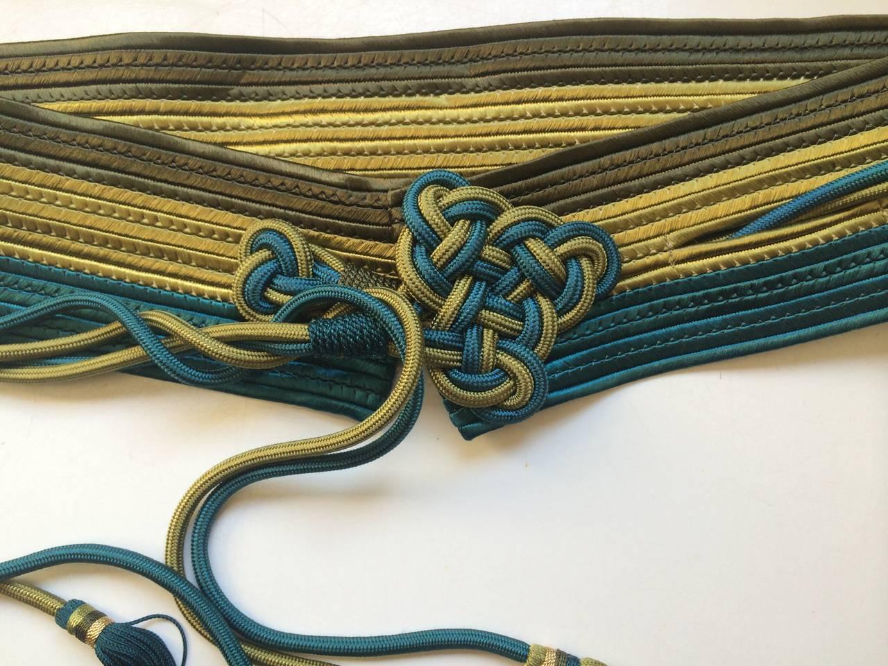 Vintage Yves Saint Laurent Russian Collection Passementerie Tassel Belt YSL 4