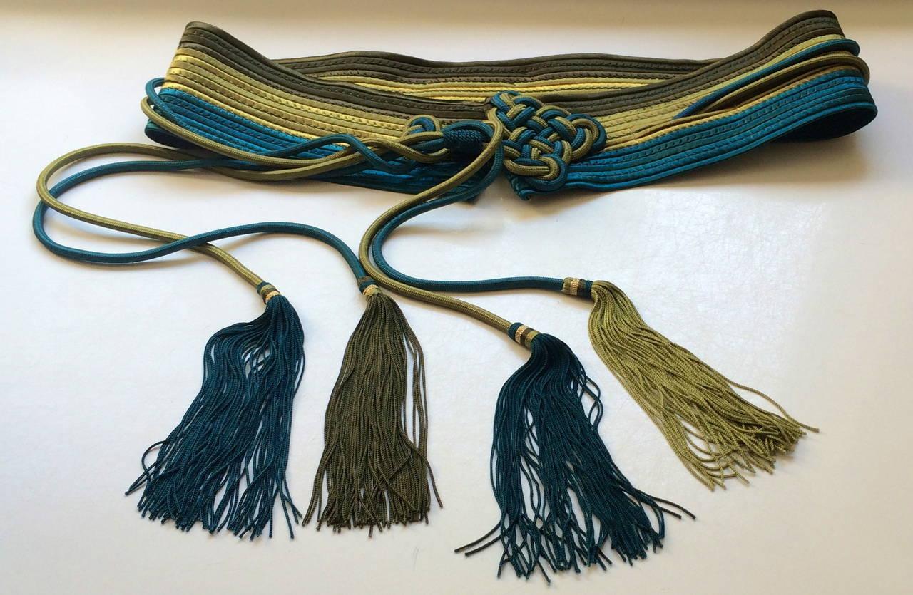 Vintage Yves Saint Laurent Russian Collection Passementerie Tassel Belt YSL 2