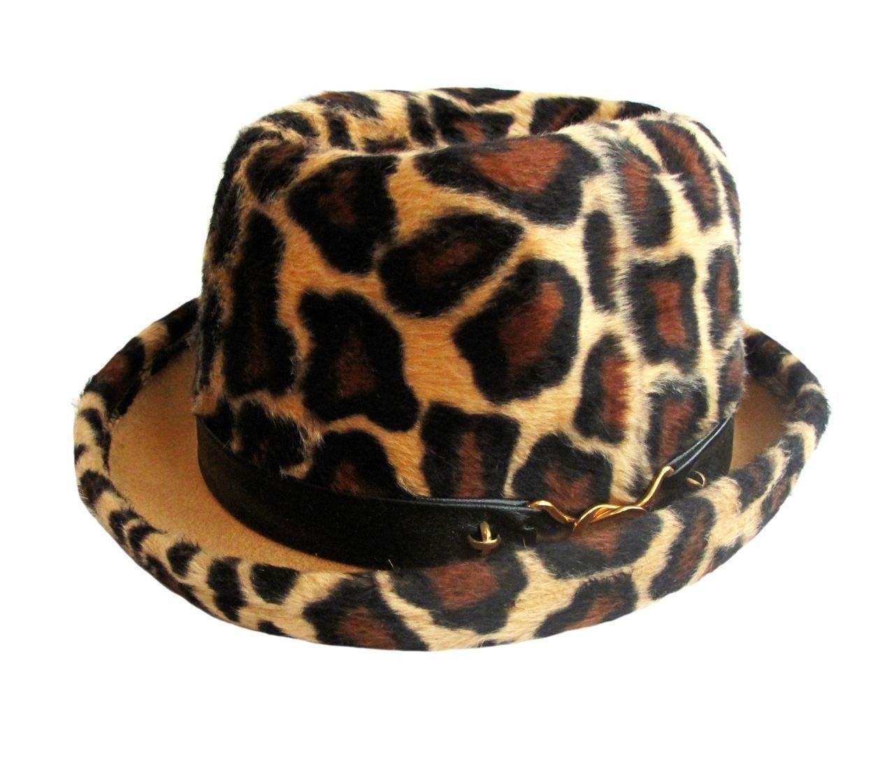 fb09adbdaed09 A Rare YSL Vintage Leopard Print Hat Yves Saint Laurent 1970s at 1stdibs