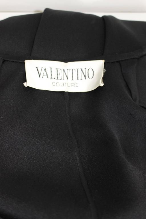 Valentino Haute Couture Vintage Black Silk Satin Cape For Sale 5