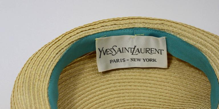 Vintage Yves Saint Laurent Floral Beret/ hat For Sale 3
