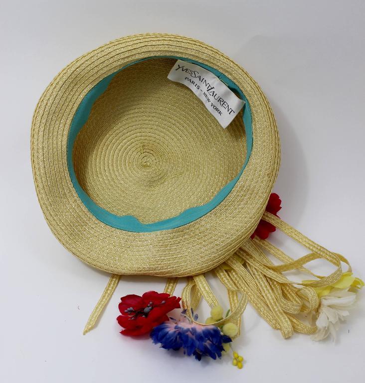 Vintage Yves Saint Laurent Floral Beret/ hat For Sale 2