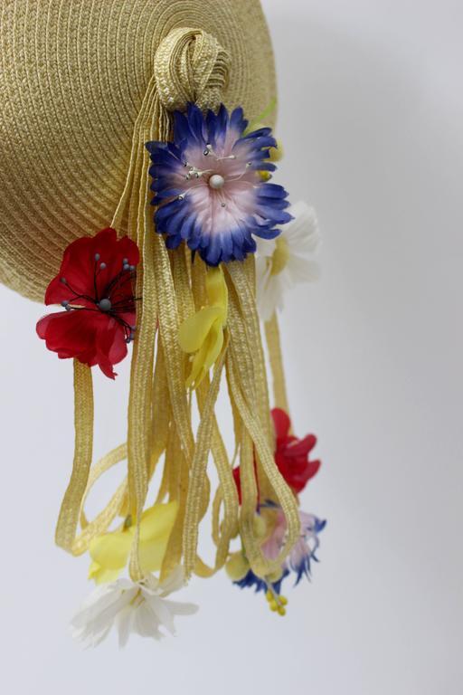 Women's Vintage Yves Saint Laurent Floral Beret/ hat For Sale