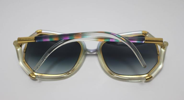 1970s Ted Lapidus Rainbow Frame Sunglasses & Shades In Excellent Condition For Sale In Boca Raton, FL