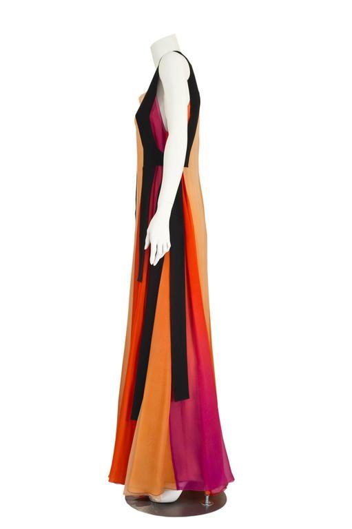 Sonia Rykiel Spring 2012 Runway Silk Chiffon Gown  In Excellent Condition In Boca Raton, FL