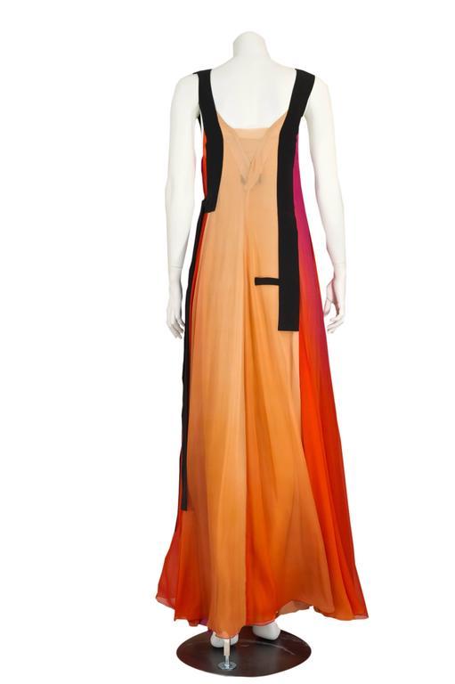 Women's  Sonia Rykiel Spring 2012 Runway Silk Chiffon Gown