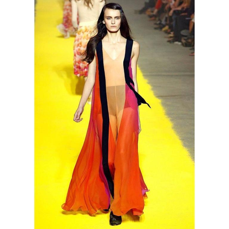 Sonia Rykiel Spring 2012 Runway Silk Chiffon Gown  3