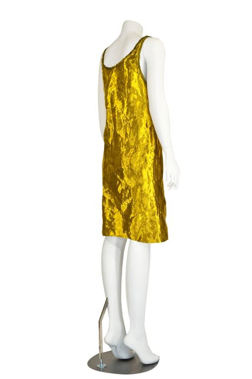 Prada Spring 2009 Gold Metal and Silk Sleeveless Cocktail Dress with Tags Runway 4