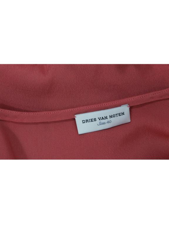 Dries Van Noten Pink Crepe Feather Trim Tunic Top Fall Winter 2013/2014 Runway For Sale 2