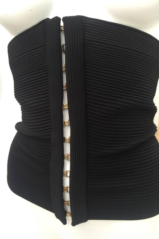 Gucci Extra Wide Dramatic Black Bandage Corset Belt In Excellent Condition For Sale In Boca Raton, FL