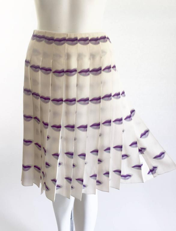 2270b3a572 The most coveted Prada, Spring/Summer 2000 silk skirt with a violet purple  lip