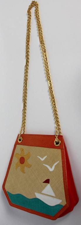 Bottega Veneta Limited Edition Vintage Gold Chain Purse  For Sale 4