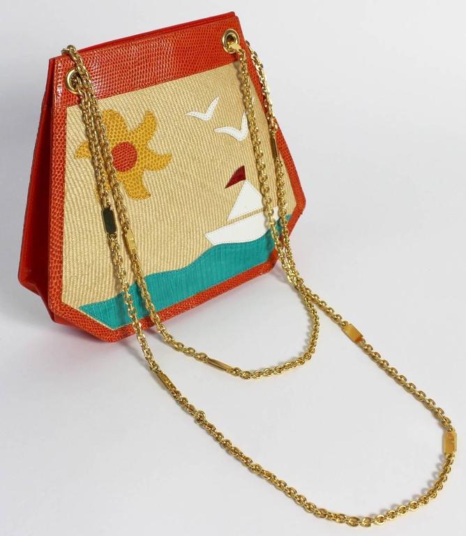 Women's Bottega Veneta Limited Edition Vintage Gold Chain Purse  For Sale