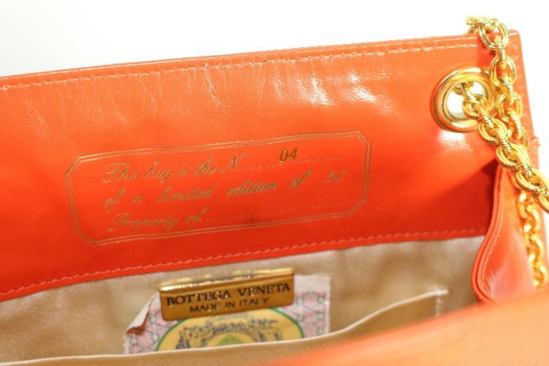 Bottega Veneta Limited Edition Vintage Gold Chain Purse  For Sale 6