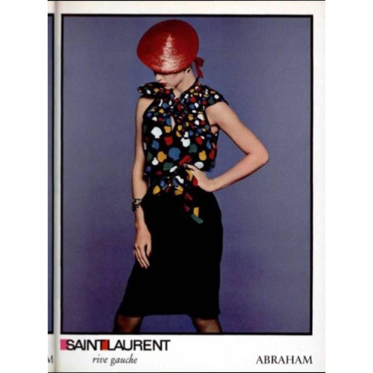 Yves Saint Laurent Vintage Documented YSL Silk Seashell Blouse With Sash, 1979  For Sale 4