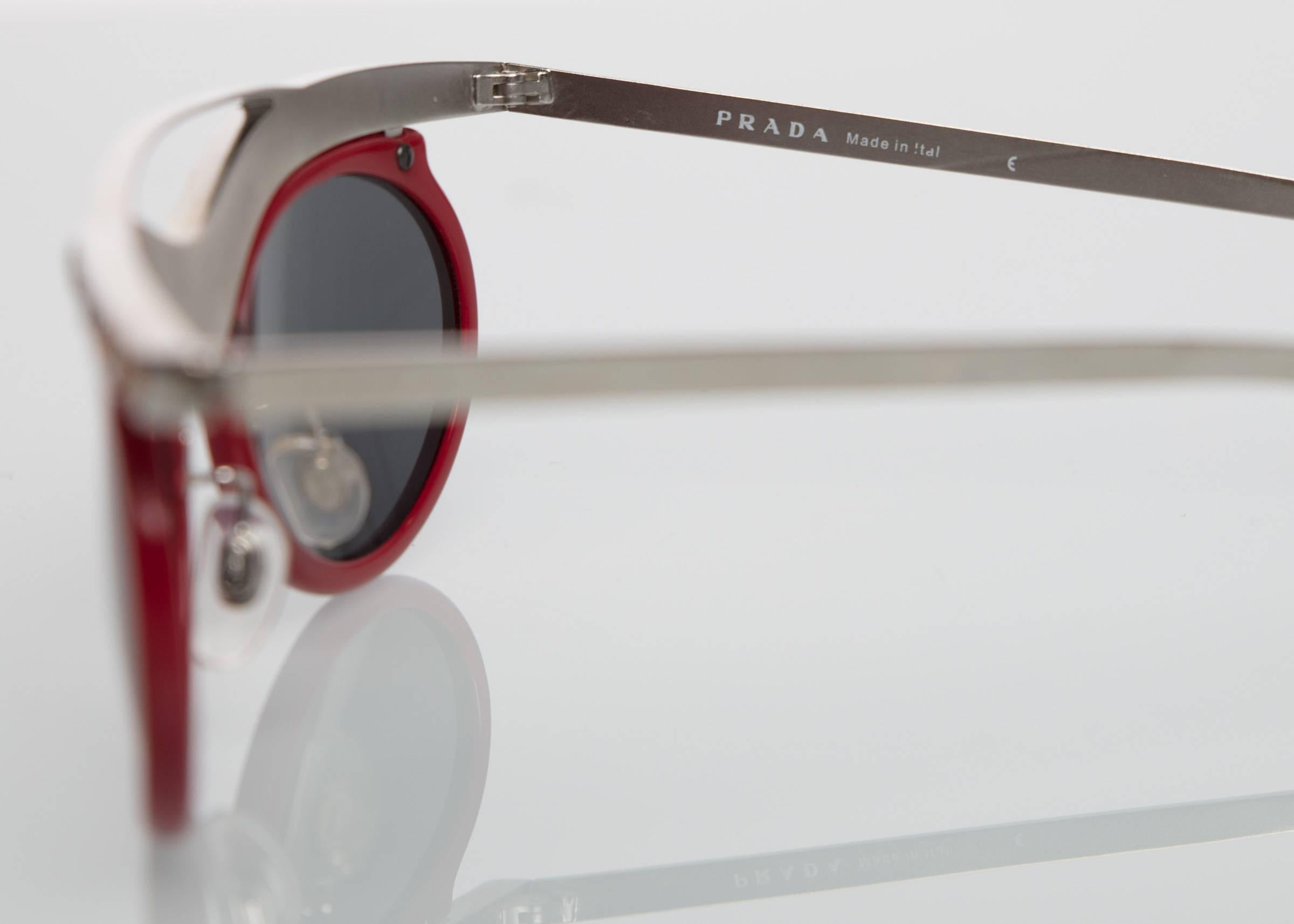 903ffcb0cffb ... closeout 2012 prada runway red cat eye amber crystal sunglasses for sale  1 7c7e7 b3be3