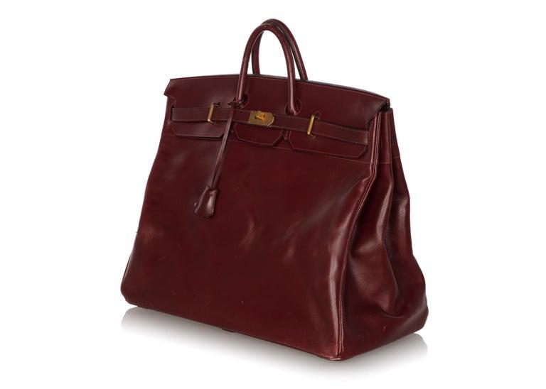 0706d141a74e Hermes Bonwit Teller Vintage Burgundy Travel Birkin Bag