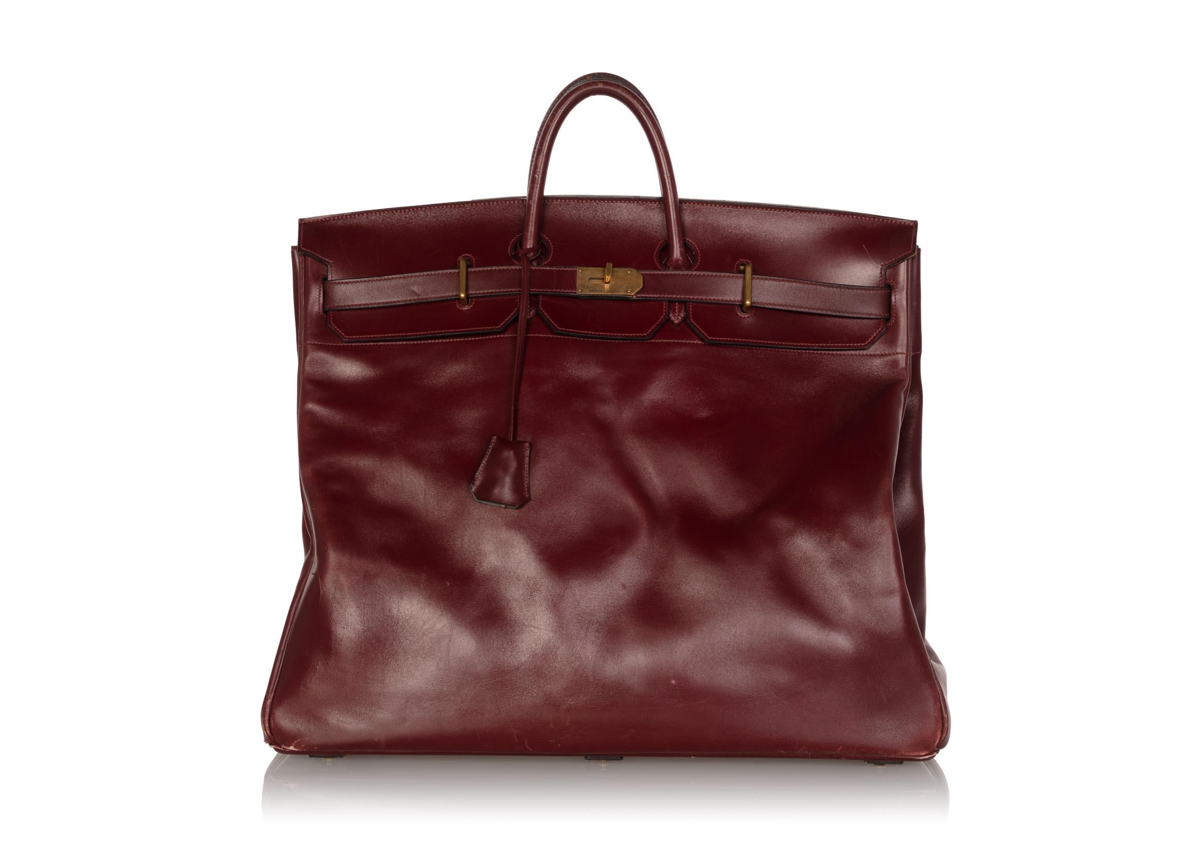 18117cc163f Hermes Bonwit Teller Vintage Burgundy Travel Birkin Bag, 1970s For Sale at  1stdibs