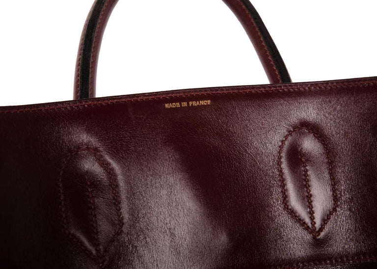 208a69b0dac Hermes Bonwit Teller Vintage Burgundy Travel Birkin Bag, 1970s For Sale 3