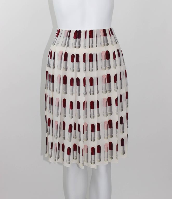 Prada Runway Lipstick  Print Skirt Rare & Collectable 6