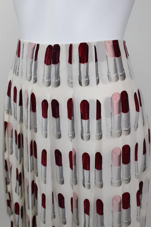Prada Runway Lipstick  Print Skirt Rare & Collectable 8