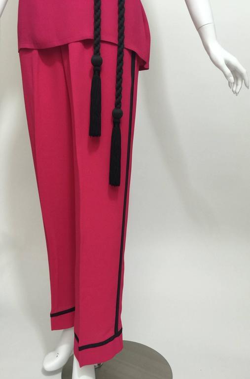 Vintage Saint Laurent 1970s Top, Pants & Tassel Belt Set YSL 5