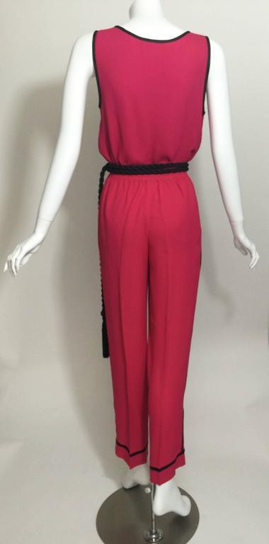 Vintage Saint Laurent 1970s Top, Pants & Tassel Belt Set YSL 8