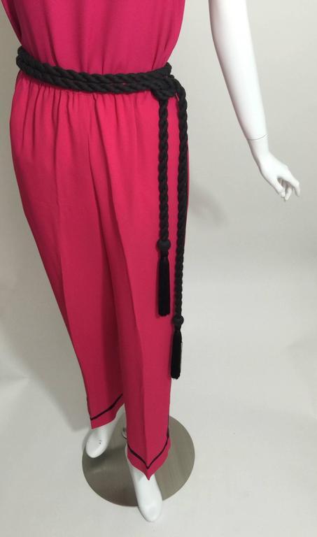 Vintage Saint Laurent 1970s Top, Pants & Tassel Belt Set YSL 9