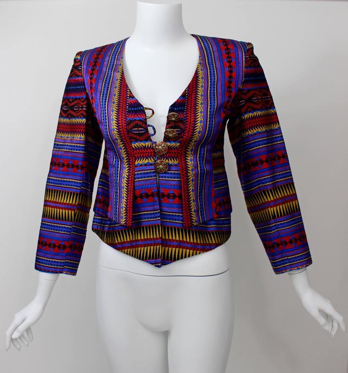 Christian Lacroix Colorful Jacket w/ Enamel Buttons 2
