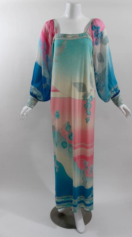 A Beautiful Leonard Paris Dress From The Early 1970s Body Is Luxurious Silk