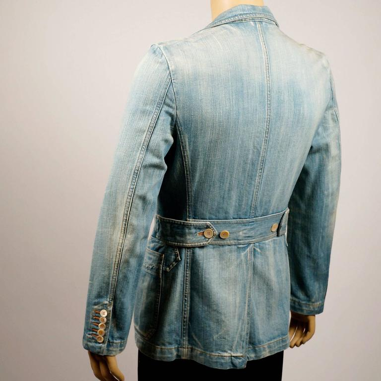 Tom Ford for Gucci Distressed Tailored Denim Jacket 5